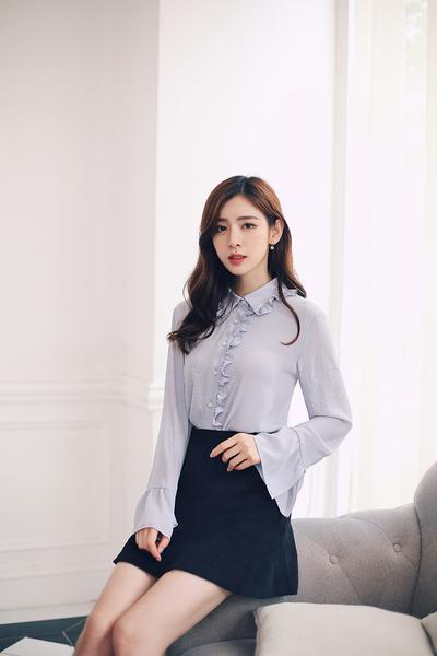 Asian Fashion - flare sleeve chiffon shirt | AddOneClothi