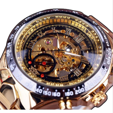 winner fashion shining roman numerals mechanical watch luxury .
