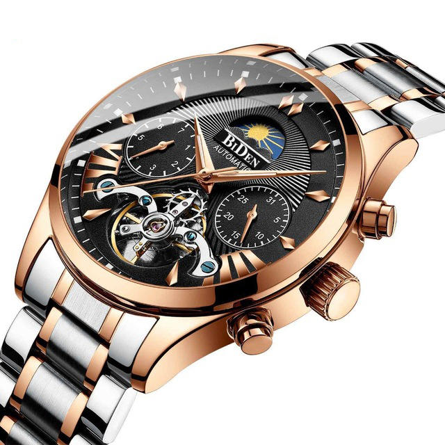 biden bd8509 moon phase automatic mechanical watch at Banggo