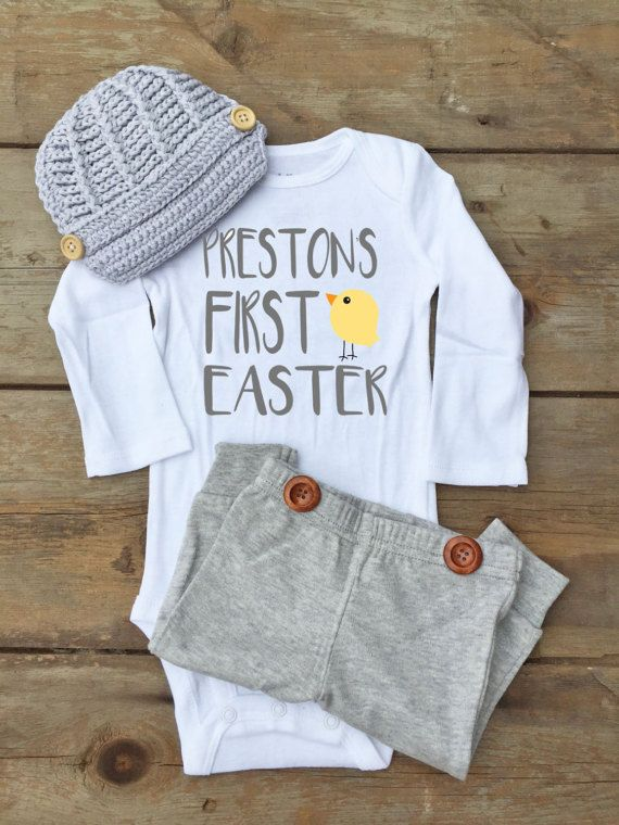 Baby Boy First Easter Bodysuit First Easter Outfit for Baby | Boys .
