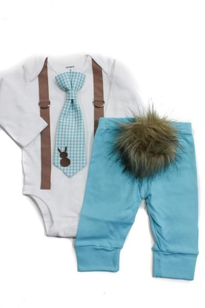 Bunny Hop Bundle | Light Blue | Baby easter outfit, Newborn boy .