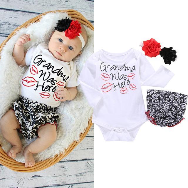 Newborn Baby Girl Outfit - Newborn Baby Girl Clothes - Grandma Was .