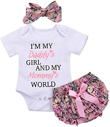 Amazon.com: Honykids 3PCS Newborn Baby Girl Romper Jumpsuit .
