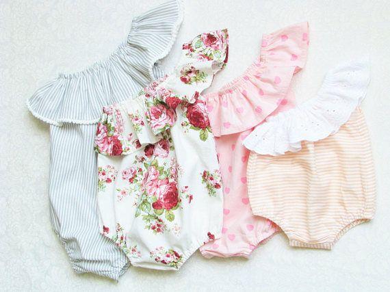 Baby romper pattern, Baby pattern bodice, Ruffled romper pdf .