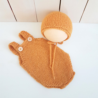 Ravelry: Easy Baby Romper & Bonnet set pattern by Tania