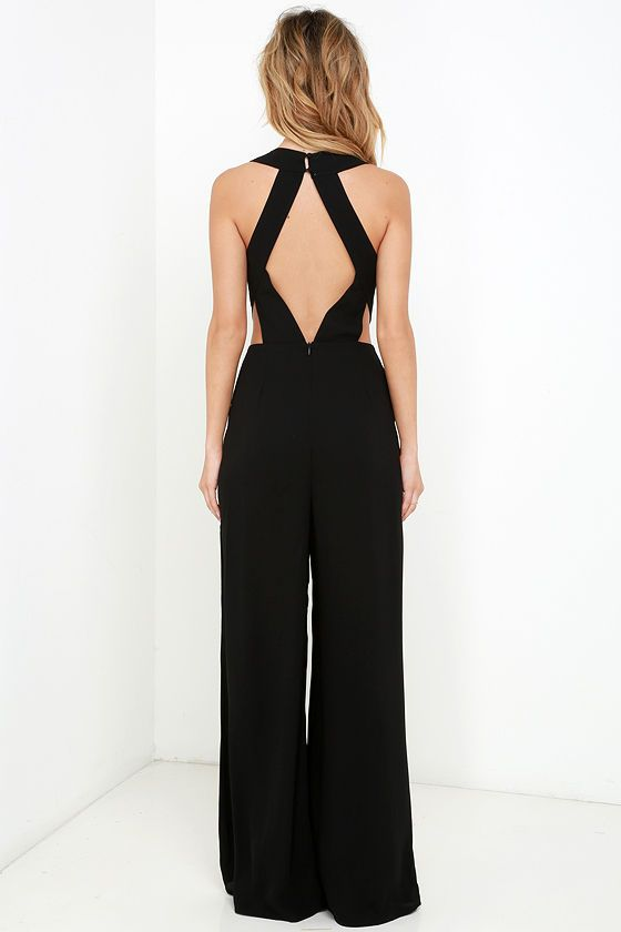 Back to Me Black Backless Jumpsuit in 2020 | Backless jumpsuit .