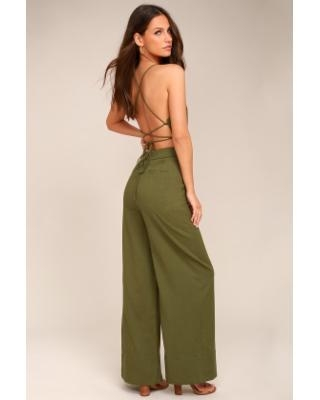 Find Big Savings on Lulus | Beach Day Olive Green Backless .