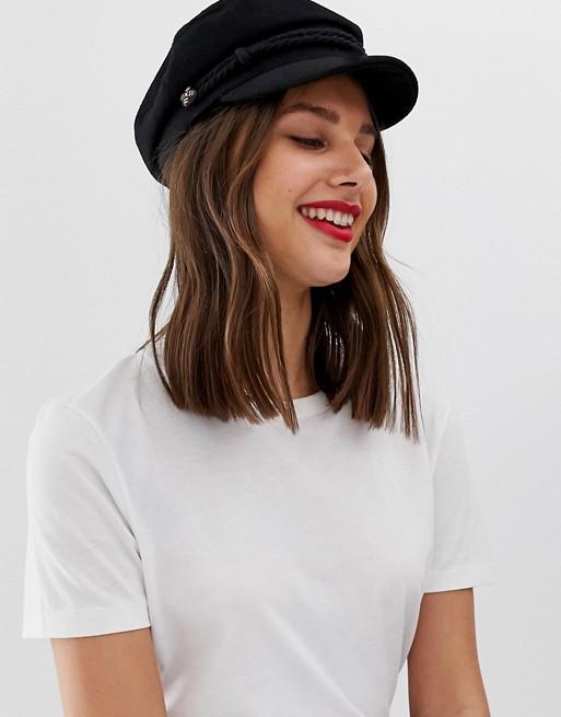 ASOS DESIGN high crown wool baker boy hat | AS