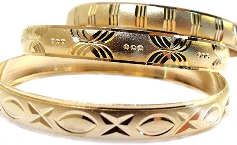 Amazon.com: 3pk Girls Gold Bangle Bracelets Baby, Infant, Girls .