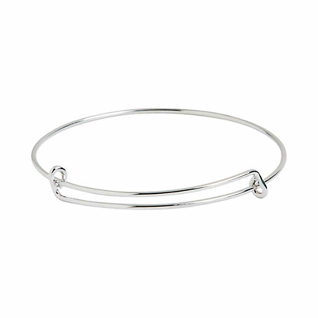 Inspiring Charms Expandable Silvertone Bangle Bracelets | Oriental .