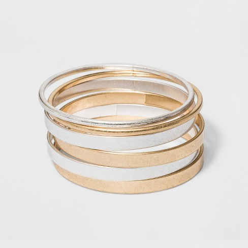 Thick And Thin Bangle Bracelets Set 6ct - Universal Thread™ : Targ