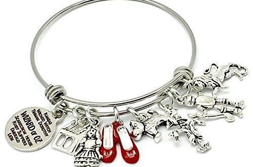Amazon.com: Wizard of Oz Inspired Bangle Charm Bracelet, with .