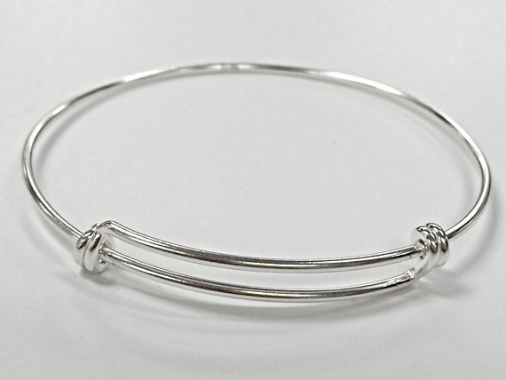 Sterling Silver Adjustable Bangle Bracelet | Charm Factory .