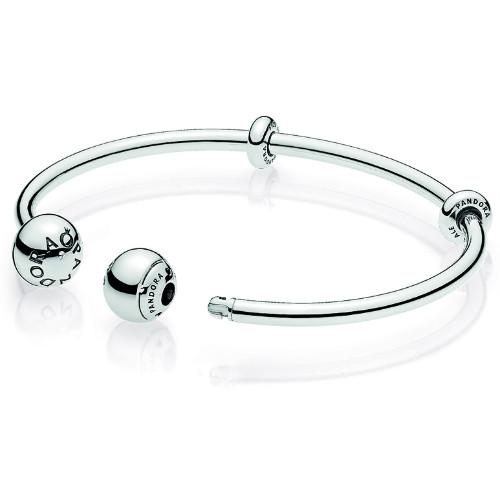 Pandora Open Bangle Charm Bracelet :: Pandora Bracelets 596477 .