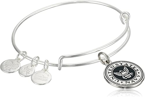 """Amazon.com: Alex and Ani """"Armed Forces"""" US Navy Expandable Gold ."""