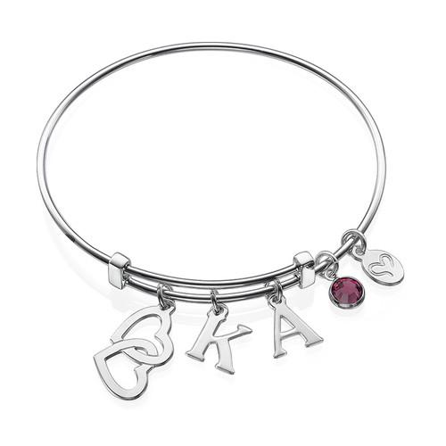 Infinity Charm Bangle Bracelet | My Name Neckla