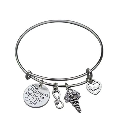 Infinity Collection - Nurse Bracelet, Nurse Jewelry, Nurse Charm .
