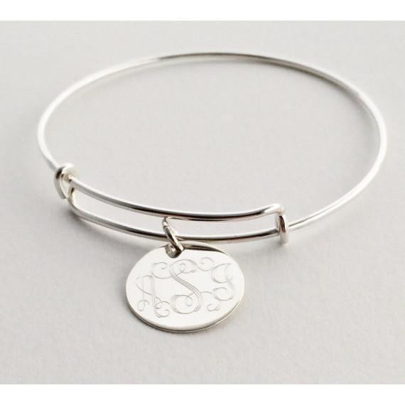 Adjustable Bangle Charm Bracelet Personalized Bracelets - The .