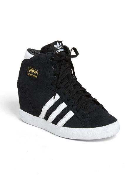 Adidas Black Basket Profi Hidden Wedge Sneaker | Sneaker heels .