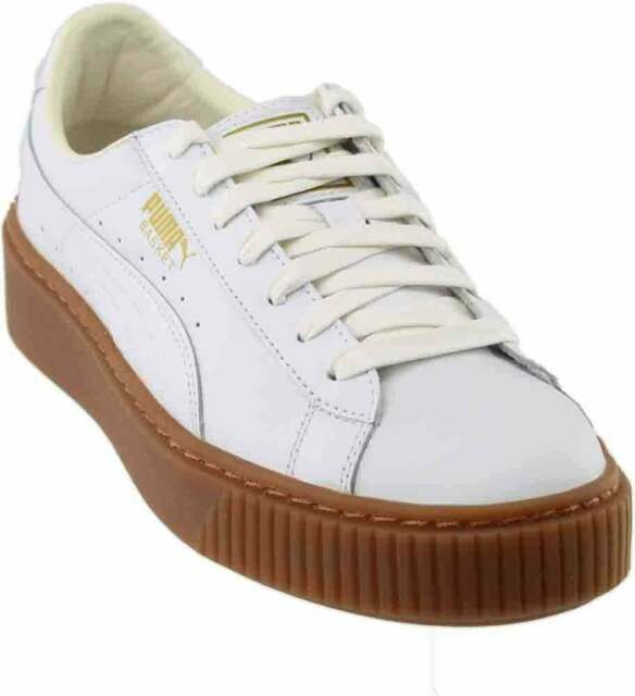 PUMA Basket Platform Core Women's SNEAKERS White/gum 36404001 9 .