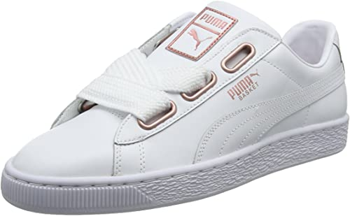Amazon.com | PUMA Women's Basket Heart Leather WN's Low-Top .