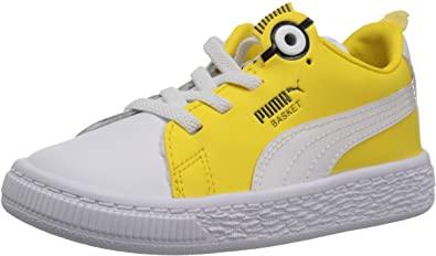 Amazon.com | PUMA Baby Minions Basket Bs Ac Kids Sneaker, | Sneake
