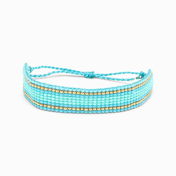 Striped Beaded Bracelet Blue | Pura Vida Bracele