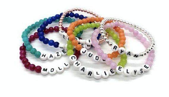 Custom Name Bracelets Beaded Bracelets Stack Bracelets Baby | Et