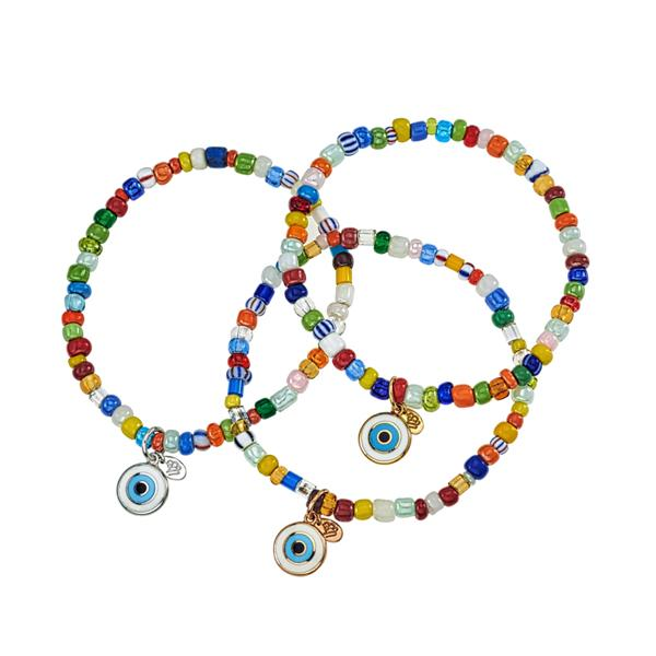 Evil Eye on Beaded Bracelets – Aaron Basha Cor