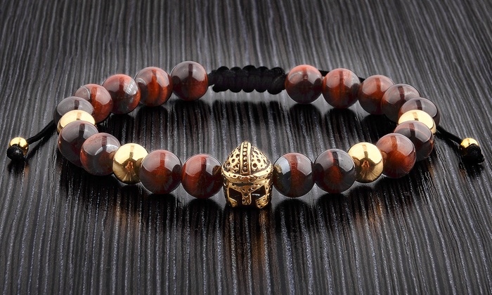 Up To 63% Off on Natural Stone Beaded Bracelet | Groupon Goo