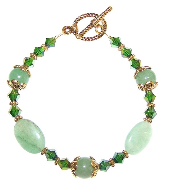 Emerald Elegance Bracelet Beaded Jewelry Making K