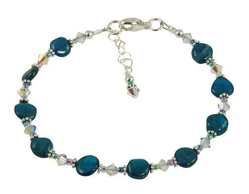 Handcrafted Aqua Blue Apatite Gemstone Bracelet – SWCreatio