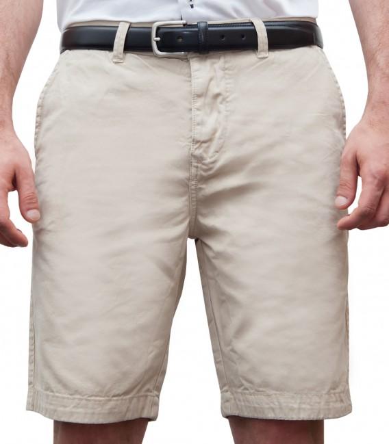Bermuda shorts cotton plain colour bei