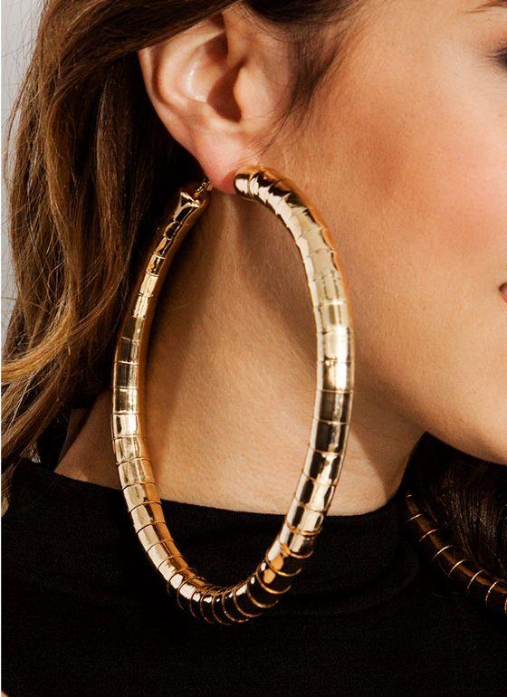 big hoop earrings - Google Search | Big hoop earrings, Large hoop .