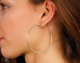 Large hoop earrings | Et