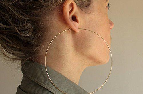 Amazon.com: Extra Large Gold Hoop Earrings - 4 inch Hoops - Big .