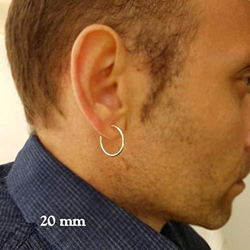 Amazon.com: Big Hoop Earrings for Men Mens Hoops Sterling Silver .