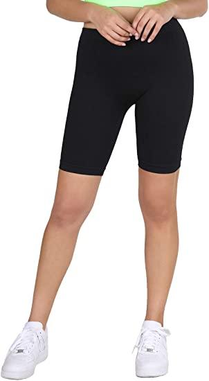 Amazon.com: NIKIBIKI Women Seamless Ribbed Biker Shorts, One Size .