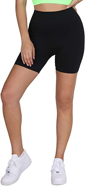 NIKIBIKI Women Seamless Moto Biker Shorts, One Size (Black) at .