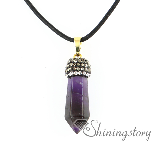 hexagonal prisms birthstone necklaces handcrafted jewellery birth .