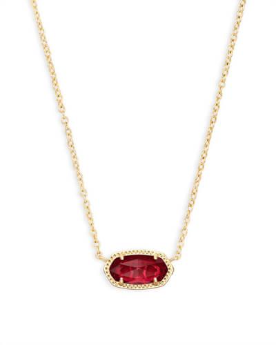 Elisa Gold Pendant Necklace in Peach Pearl   Kendra Sco