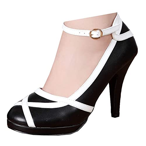 Black and White Pumps: Amazon.c