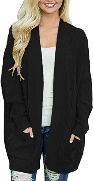 Dearlove Women's Oversized Long Sleeve Open Front Knit Cardigan .