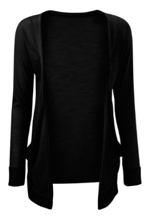 VIP Boutique Womens Black Boyfriend Pocket Cardigan at Amazon .