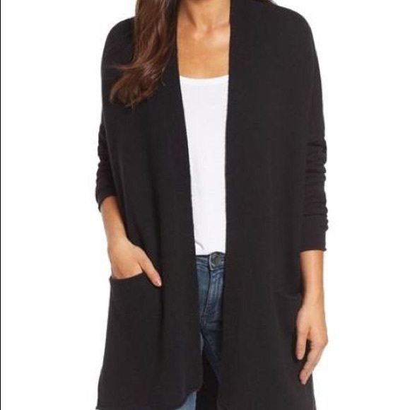 Caslon Sweaters | Womens Black Cardigan With Pockets | Poshma