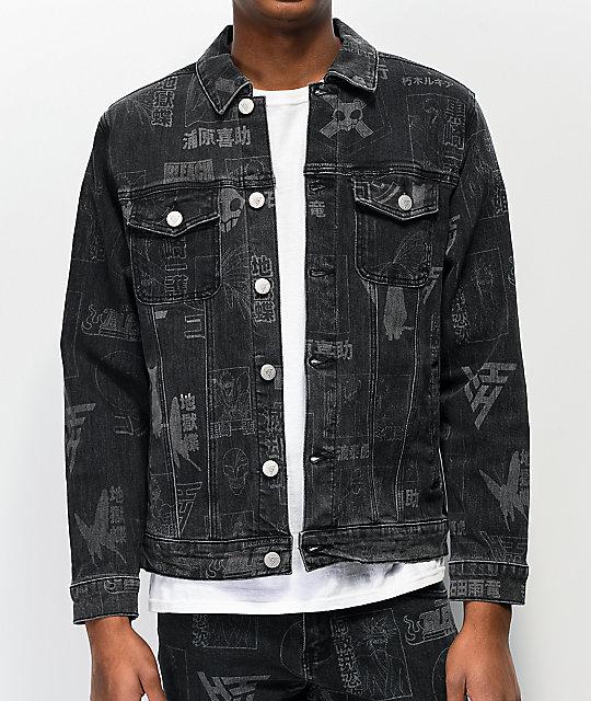 Hypland x Bleach Black Denim Jacket | Zumi