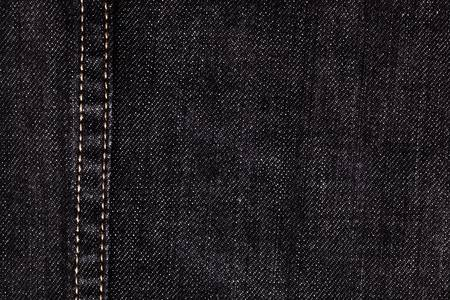 Close Up Of Black Denim And Stiches Jeans Texture For Graphic .
