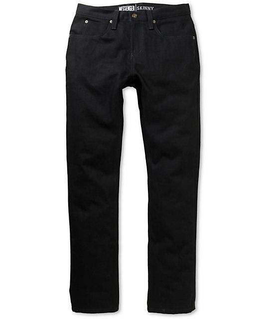 Free World Messenger Black Denim Super Skinny Jeans | Zumi