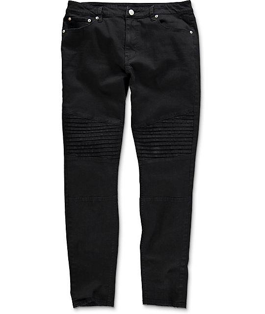 Elwood Moto Black Denim Jeans | Zumi