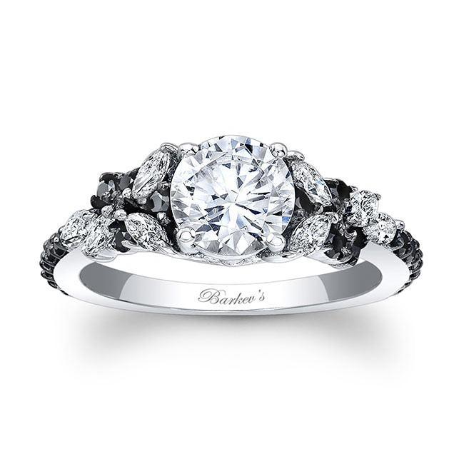 Barkev's Black Diamond Engagement Ring 7932LBK | Barkev